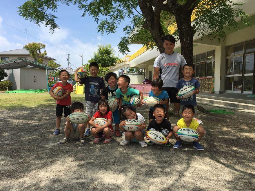 普及・地域貢献活動2017年6月12日(月)      竜洋西保育園ラグビー体験レポート