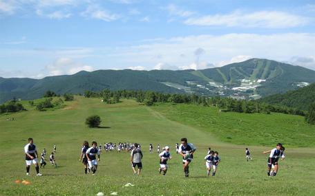 ダボスの丘での練習風景