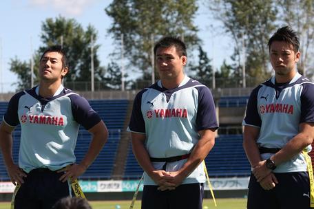 佐藤選手、八木選手、越村選手