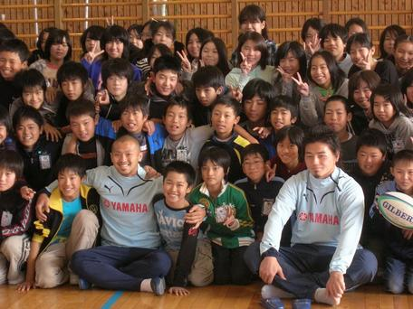 磐田南小6年生と共に