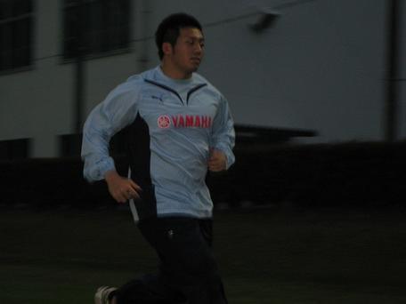 ひたむきに走る長野選手