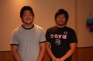 八木下選手(左)と河本選手(右)
