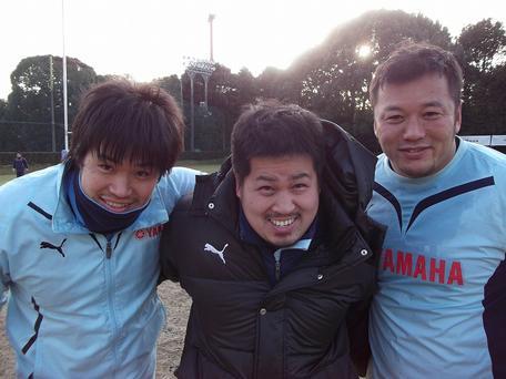 大田尾選手、仲谷選手、高木選手